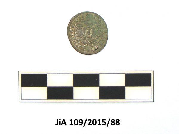 Revers mince s datem ražby 1698
