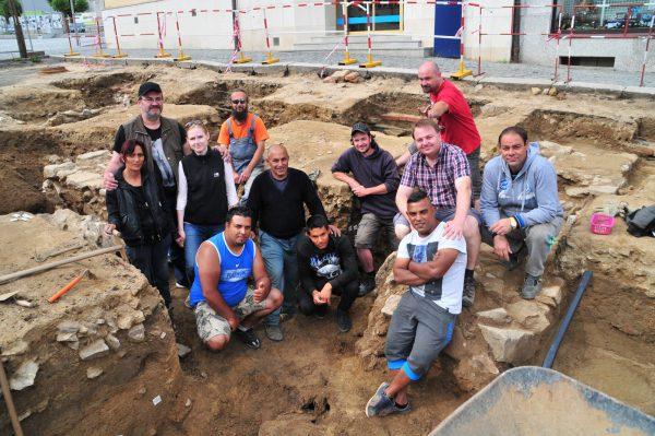 Skupinové foto pracovního týmu před zakončením výzkumu