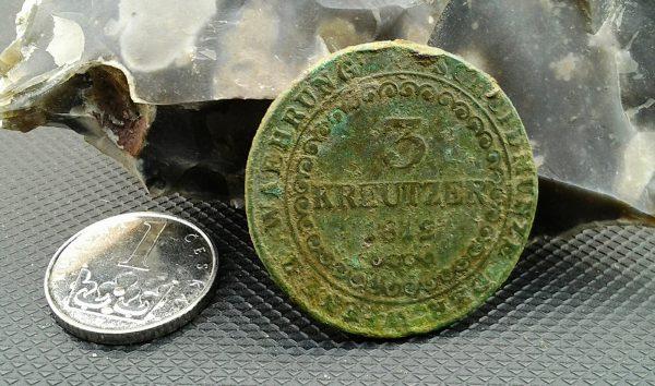 Tříkrejcar Františka I. v porovnání s dnešní korunou