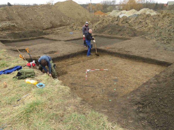 Foto exkavace archeologické lokality na k.ú. Březník